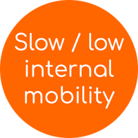 Slow / low internal mobility
